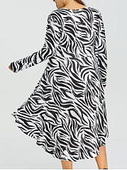 V-Neck  Asymmetric Hem  Color Block Plus Size Midi & Maxi Dress