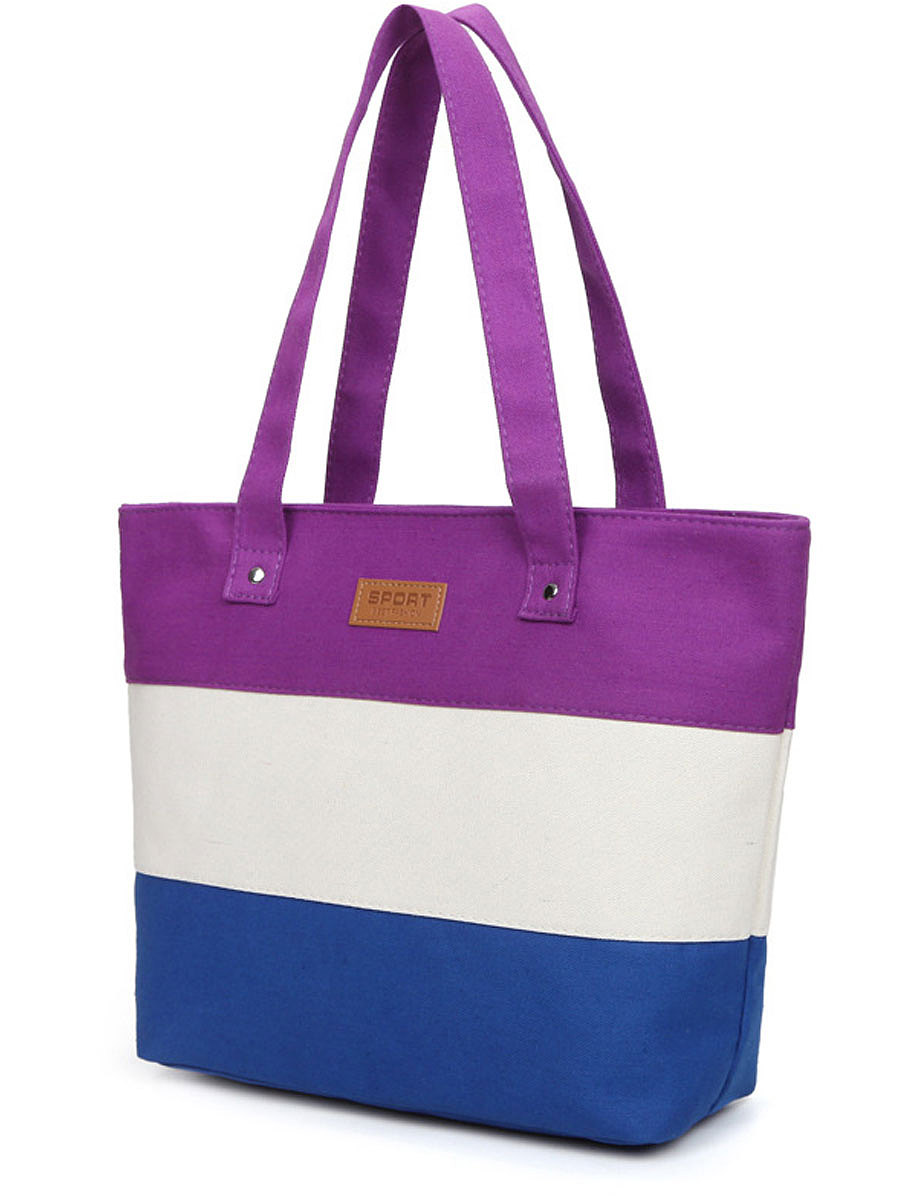 Color Block Shoulder Bags For Women
