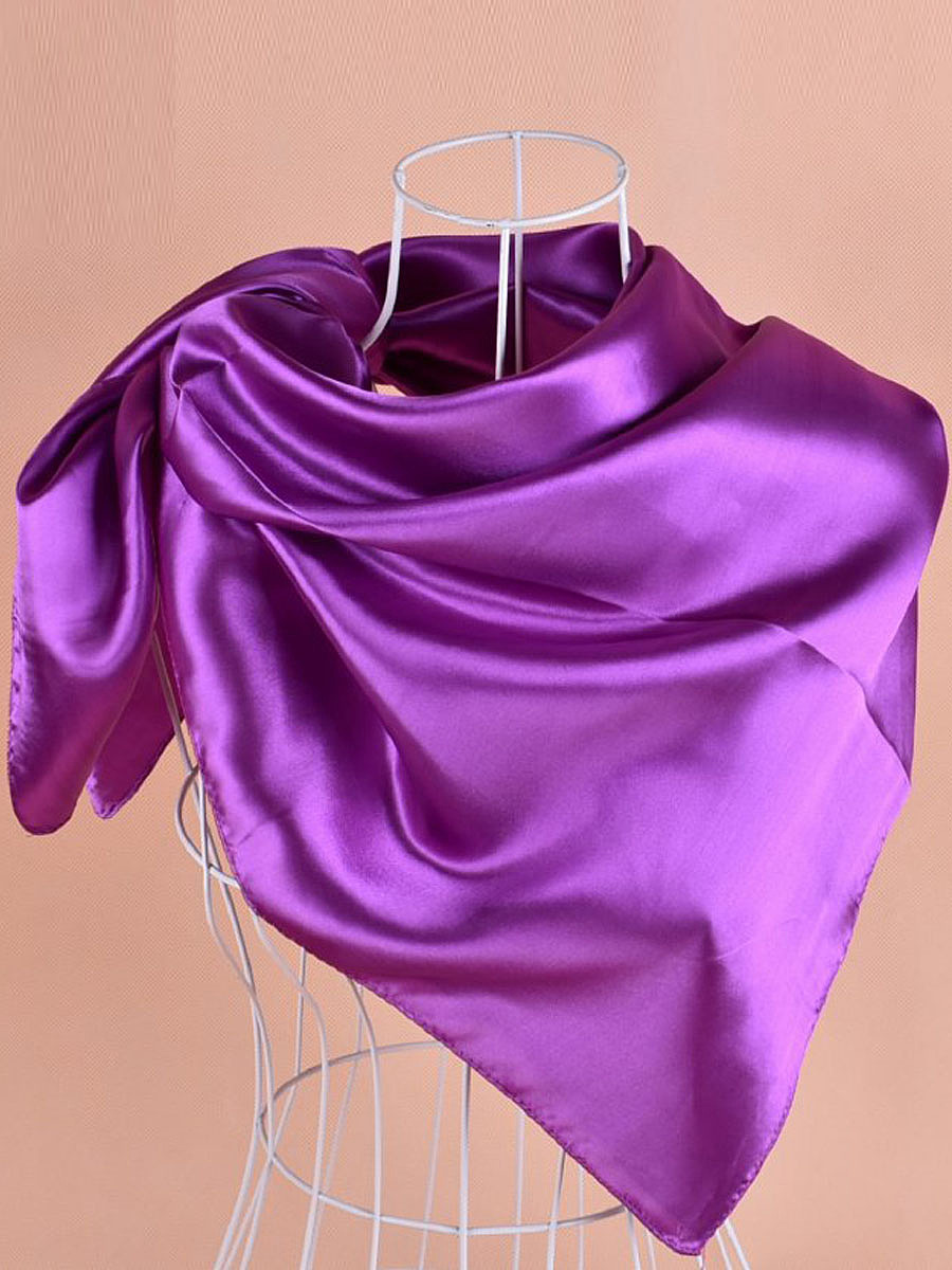 Pure Color  Satin Square Scarf