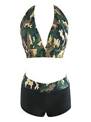Hot-Halter-Camouflage-Swimwear