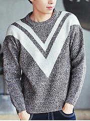 Crew-Neck-Color-Block-Mene28099S-Sweater