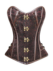 Gothic Victorian Punk Corset Dress Leather Party Waist Trainer