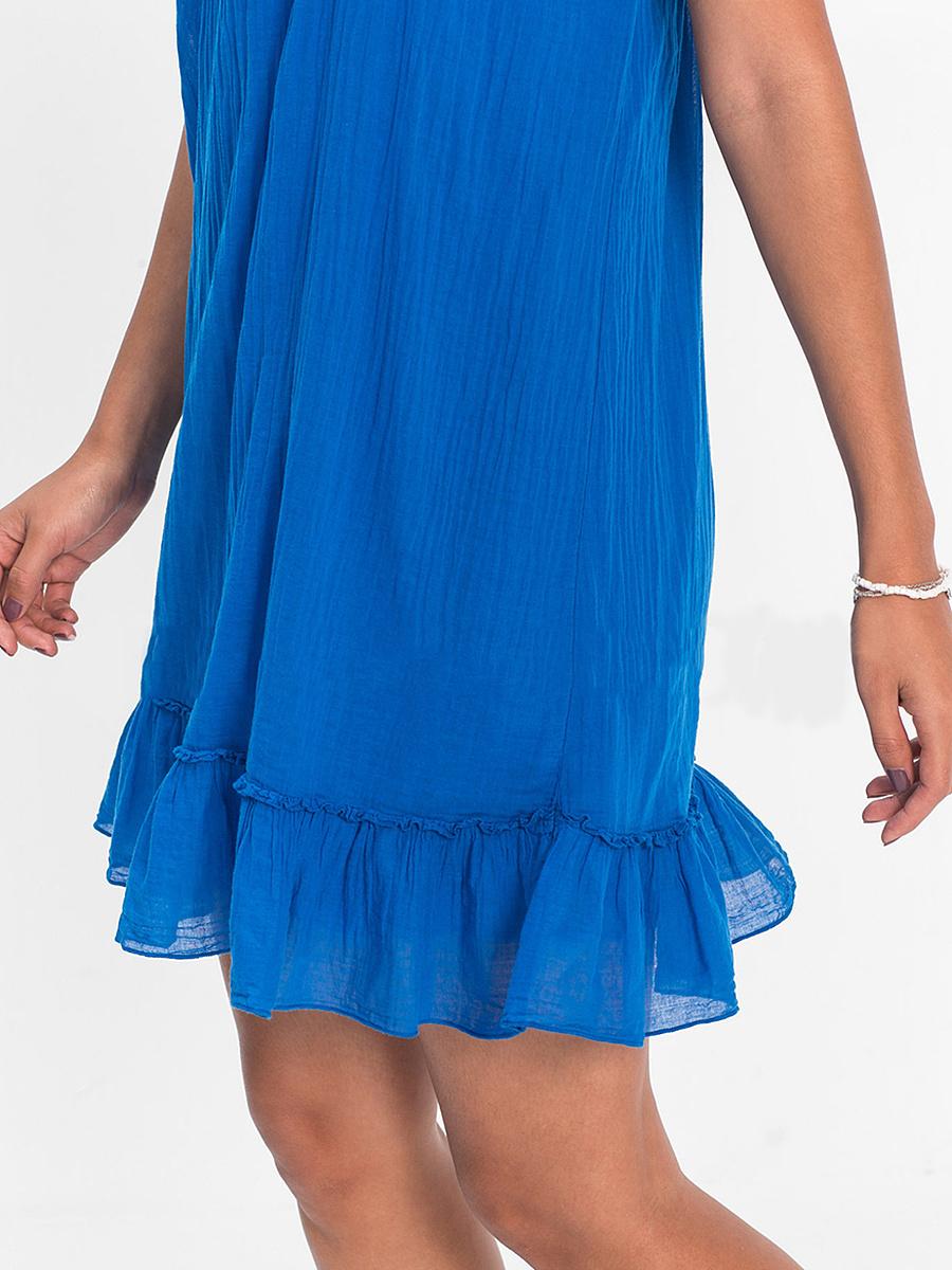 V-Neck  Decorative Lace Patchwork  Plain Shift Dress