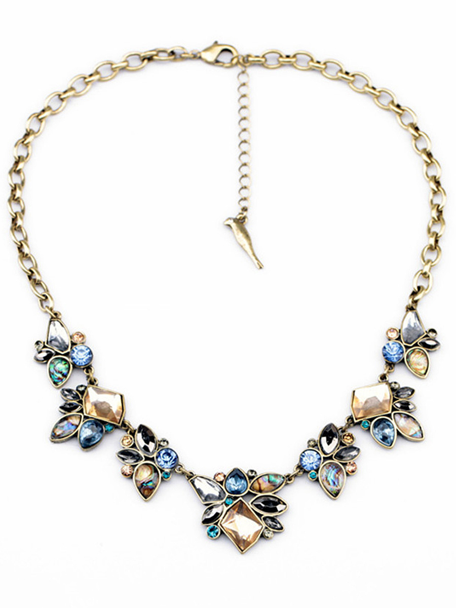Charming Faux Crystal Justable Necklace