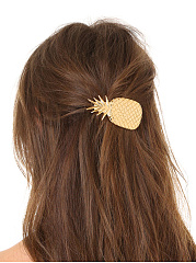 Gold Pineapple Hair Clip