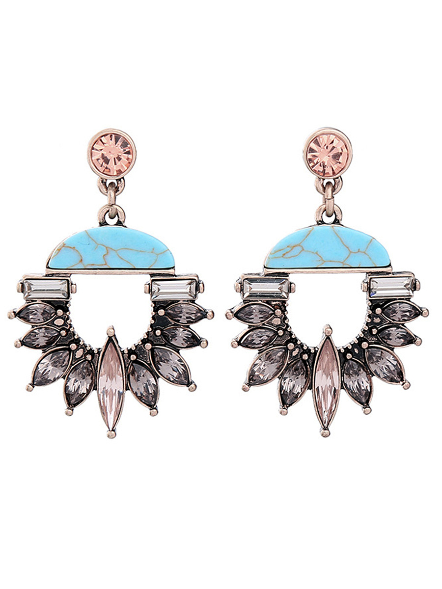 Statement Faux Crystal Drop Earrings