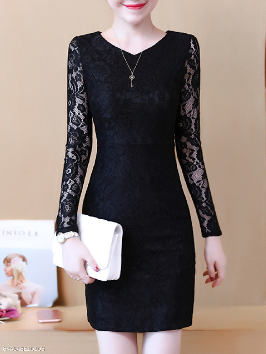 Sweet Heart  Lace Bodycon Dress