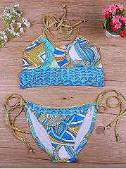 Halter-Light-Color-Printed-Bikini