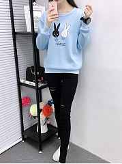 Cartoon Printed Cute Sweatshirt