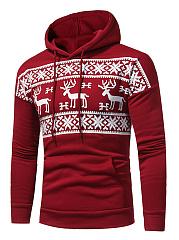 Christmas-Reindeer-Printed-Kangaroo-Pocket-Men-Hoodie