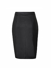 Faux Leather Asymmetric Zip Skirt