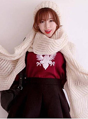 Winter Warm Knitted Plain Long Thick Scarf