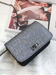 Sequins Turn Lock Small Square Bag