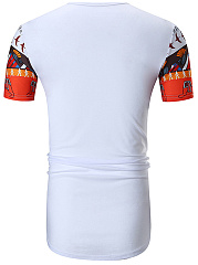 Printed  Short Sleeve Short Sleeves T-Shirts