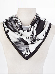 Silk Polyester Floral Printed Scarves