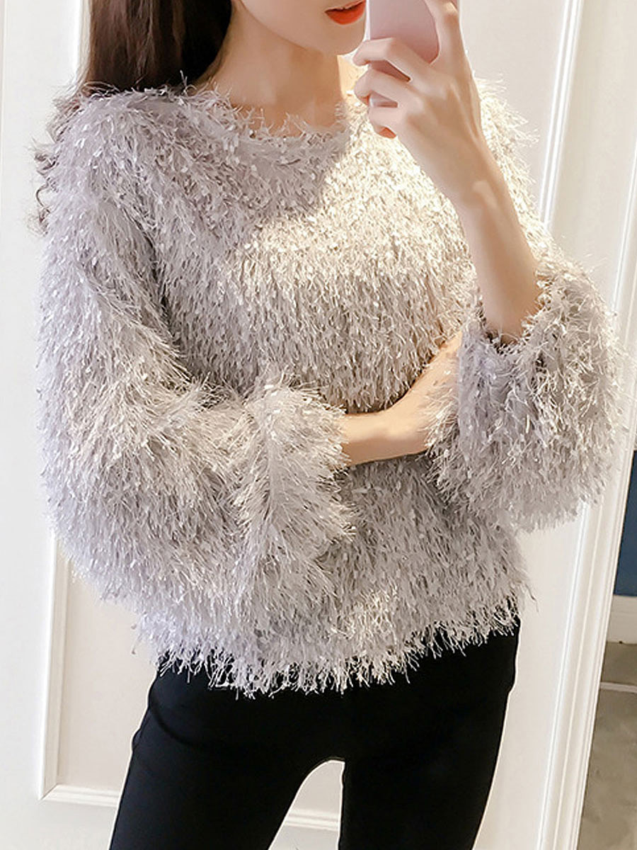 Fringe Long Sleeve Pullover shirt
