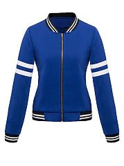 Band-Collar-Zips-Striped-Bomber-Jacket