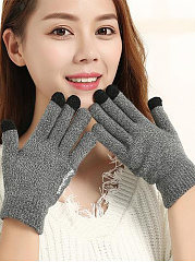 Warm Thick Woolen Cotton Gloves