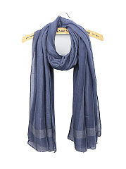 Cotton Linen Striped Scarves