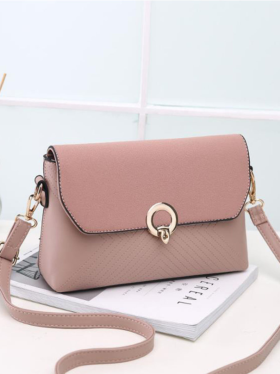 Plain Basic Pu Small Handbag
