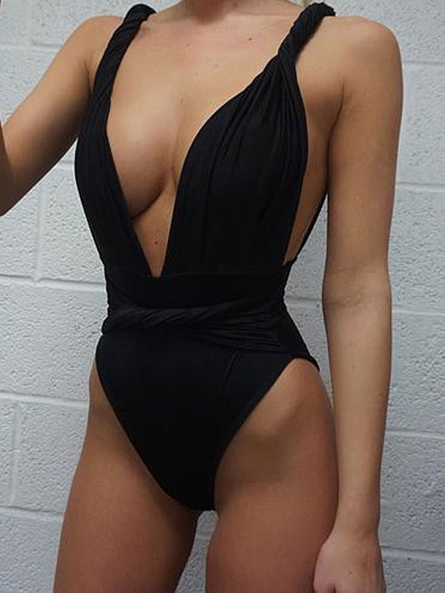 Deep V-Neck Push Up Sexy One Piece For Women