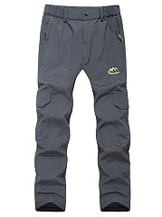 Plain-Flap-Pocket-Straight-Mens-Casual-Pants