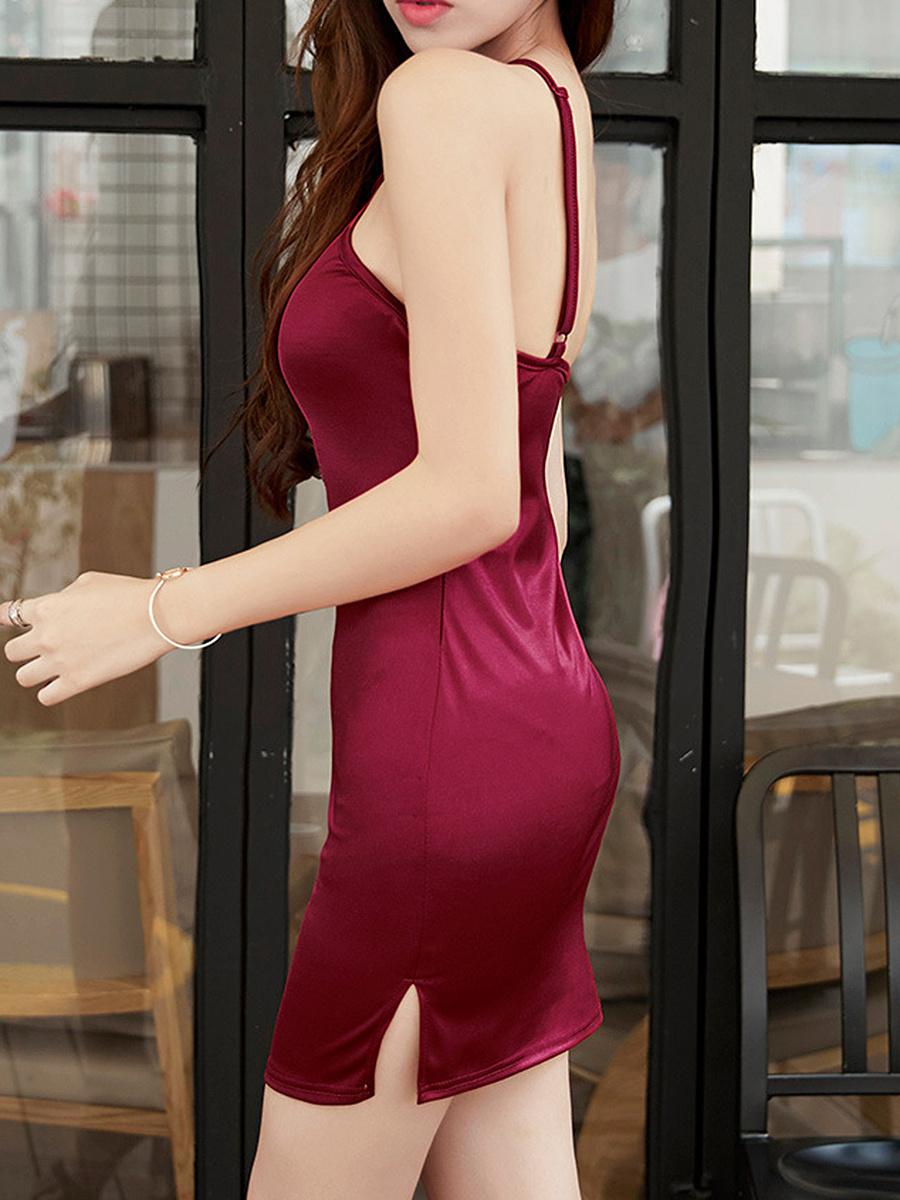 Halter  Plain Bodycon Dress