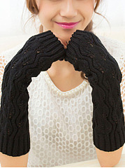 Knitted Half Finger Winter Warm Gloves