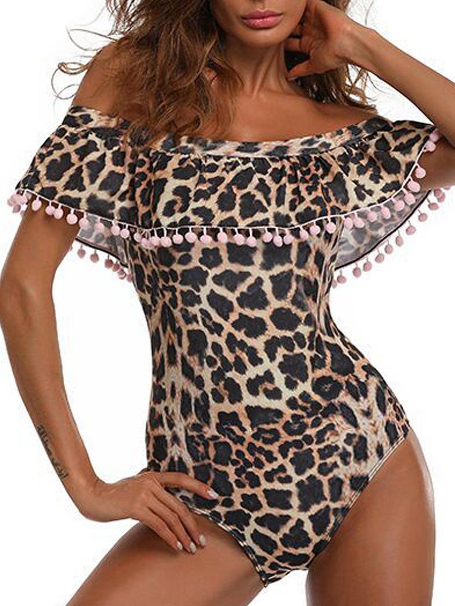 Lightweight  Leopard One Piece For Women