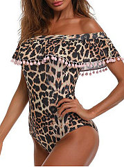 Lightweight  Leopard One Piece For Women