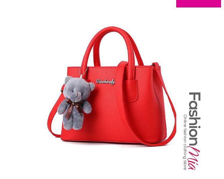Winter Elegance Stylish Little Bear PU Hand Bag Accessories Randomly Distributed