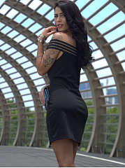 Off Shoulder  See-Through Bodycon Dresses