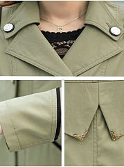 Attractive Lapel Breasted  Trench-Coats