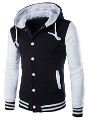 Men-Hooded-Color-Block-Single-Breasted-Pocket-Coat