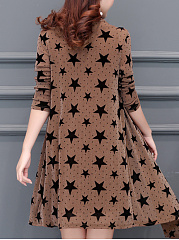 Round Neck  Star Shift Dress