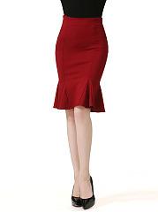 Plain-Mermaid-Stunning-Midi-Skirt