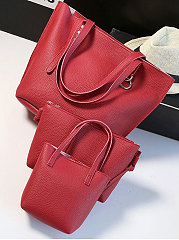 Three Pieces European Style Plain Shoulder Bag