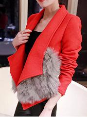 Large-Lapel-Fur-Trim-Woolen-Jacket