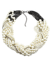 Faux Beads Beaded Necklace