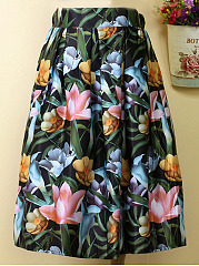Fascinating-Floral-Printed-Flared-Midi-Skirt