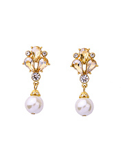 Drop Faux Crystal Elegant Earring