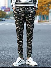 Camouflage-Slim-Leg-Mens-Casual-Pants