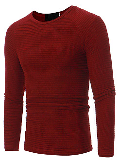 Round Neck Plain Knitted Men T-Shirt