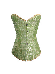 Sexy Front Button Transparent Elastic  Breathable Corsets Waist Shaper Bustiers For Women