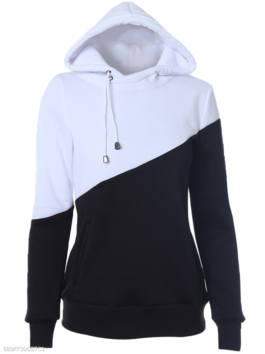 Color Block Pocket Hoodie