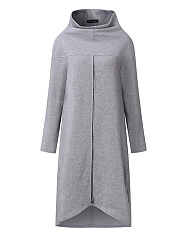 High-Neck-Chain-Plain-Long-Sleeve-Sweatshirts