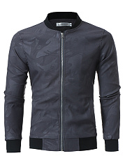 Band Collar  Pocket Men Jacket