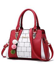 Cute-Color-Block-Contrast-Trim-PU-Hand-Bag