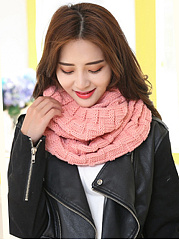 Winter Warm Knitted Plain Long Wrap Scarf