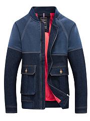 Band-Collar-Denim-Flap-Pocket-Contrast-Stitching-Men-Jacket